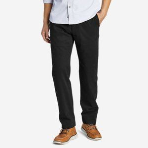 Eddie Bauer pleated chino pants relaxed fit black